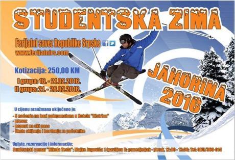 Studentska zima – Jahorina 2016