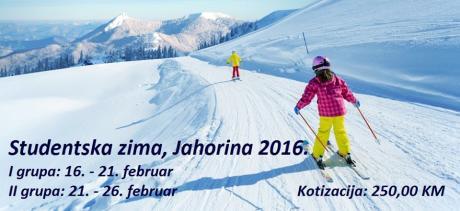 Studentska zima, Jahorina 2016