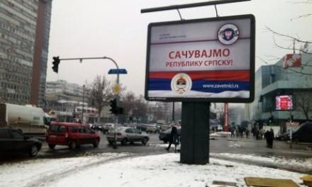 """U Beogradu i Novom Sadu bilbordi """"Sačuvajmo Republiku Srpsku"""""""