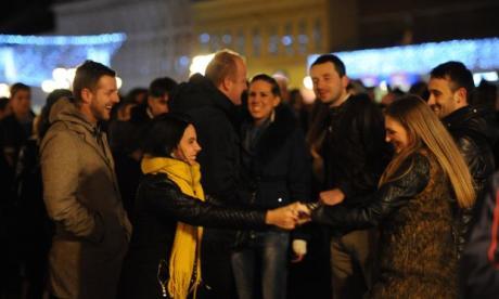 Docek pravoslavne nove 2016 godine na Trgu slobode. Novi Sad 1301 2016. Foto: Darko Dozet