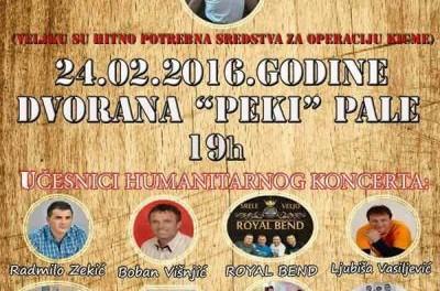 U srijedu humanitarni koncert za Veljka Miletića