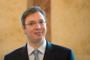 The Prime Minister of the Republic of Serbia, Aleksandar Vucic, stands in the New Palace inStuttgart,Germany, 04 February 2015. PHOTO: MARIJANMURAT/dpa, Image: 217362149, License: Rights-managed, Restrictions: GERMANY OUT, Model Release: no, Credit line: Profimedia, AFP