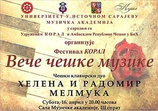 """U subotu """"Festival Koral – Večeri češke muzike"""""""