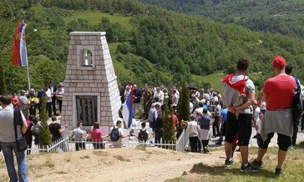 Parastos za ubijene Srbe u Gornjoj Јošanici kod Foče