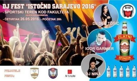26.- maj DJ FESTIVAL u Istočnom Sarajevu