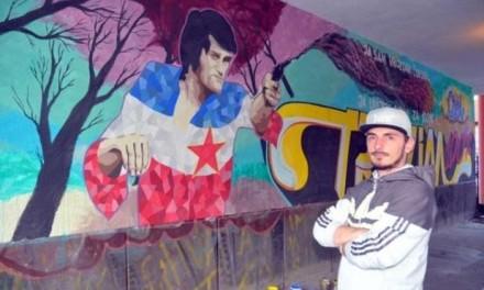Mural posvećen Draganu Nikoliću u Bijeljini