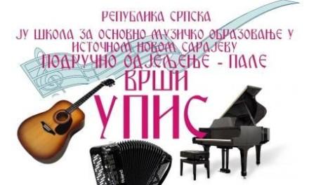 ISTOČNO NOVO SARAJEVO-PALE-Osnovna muzička škola vrši upis novih učenika