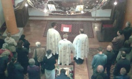 Liturgija na praznik Svetog Vasilija Ostroskog – Crkva Dobrinja Istočno Sarajevo