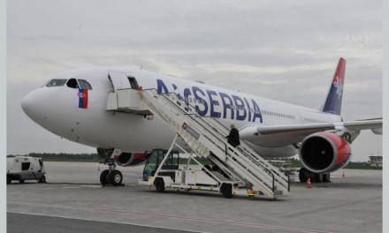 "Promotivni let novog aviona ""Er Srbija"" na relaciji Beograd- Banjaluka"