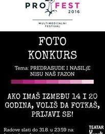 """Prijavite se na Foto konkurs pod nazivom: """"Predrasude i nasilje nisu naš fazon""""."""