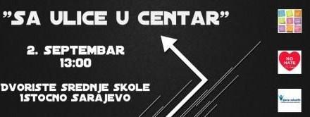 """2. septembar ulična akcija koja nosi naziv """"Sa ulice u centar"""" ispred JU SŠC """"Istočna Ilidža"""""""
