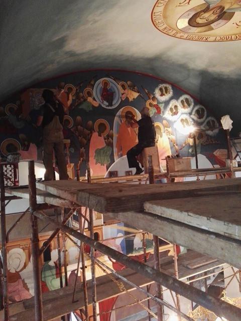 Nastavljeno živopisanje hrama Svetog Đorđa u Istočnom Sarajevu