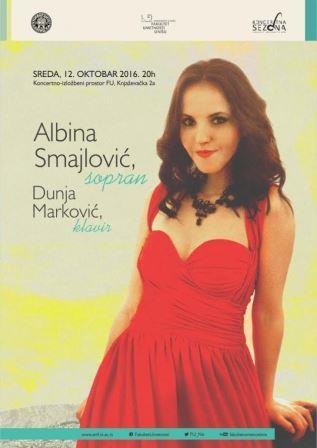 Sopran Albina Smajlović i pijanistkinja Dunja Marković održale koncert