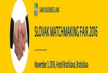 """Prijavite se na poslovni susret """"Slovakia Matchmaking Fair 2016"""""""