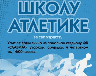 Atletski klub Istočno Sarajevo vrši upis polaznika