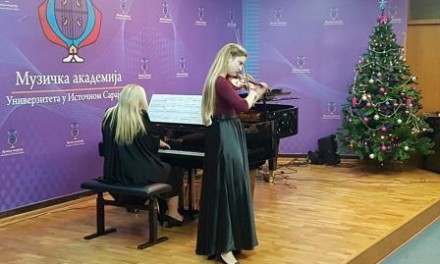 Studenti Muzičke akademije UIS-a održali novogodišnji koncert