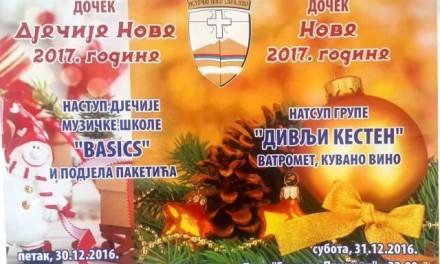 """Doček Nove 2017. – park """"Gavrilo Princip"""""""