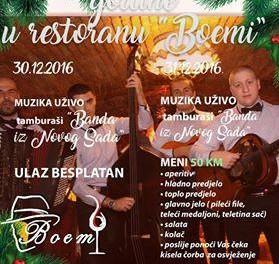 """Doček Nove godine u restoranu """"Boemi"""""""
