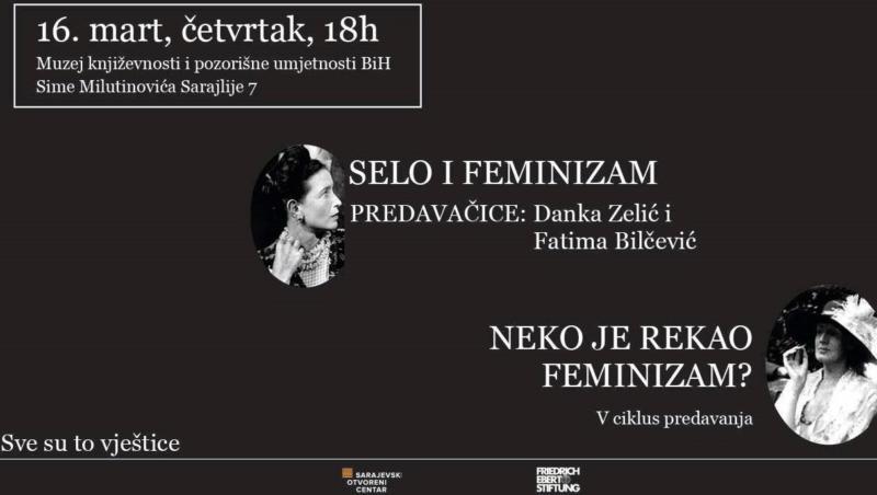 Pozivamo vas na prvo predavanje petog ciklusa Neko je rekao feminizam?,