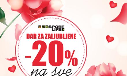 14.2. u svim Sport Life radnjama 20% popust