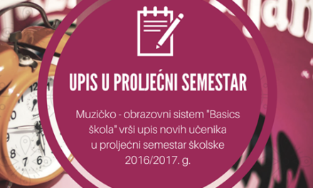 Basics škola: Upis u proljećni semestar – Video