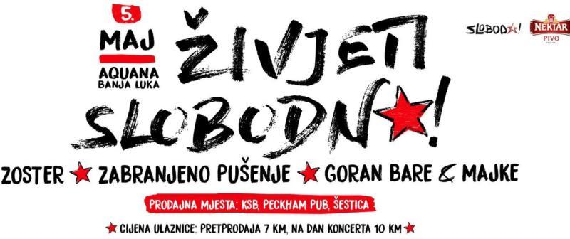 ŽIVJETI SLOBODNO 2017: Pred banjalučkom publikom Zoster/Zabranjeno pušenje/Goran Bare & Majke