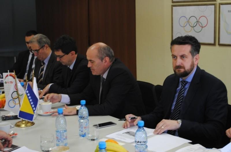 Gradonačelnik Vuković na sastanku u Olimpijskom komitetu BIH
