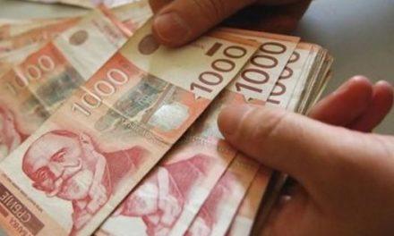 Dinar bez promjene, kurs 123,18