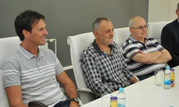 Prijem za predsjednike Odbojkaških saveza BiH Milutina Popovića i Srbije Zorana Gajića