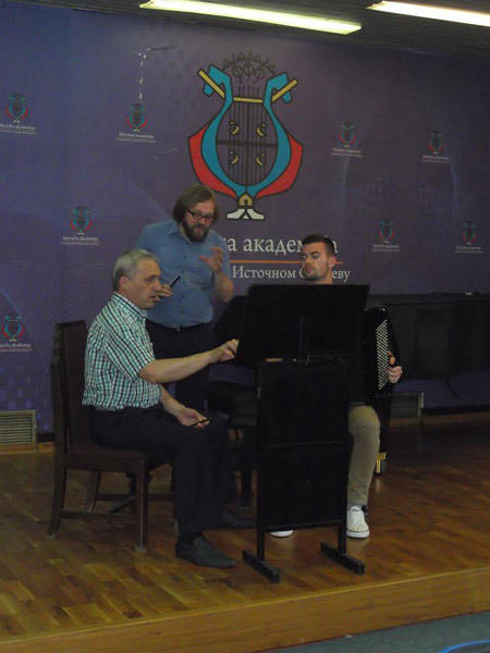Profesor Vladimir Murza održao master klas za studente Muzičke akademije UIS-a