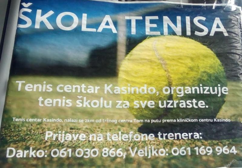 Prijavite se u Školu tenisa za sve uzraste