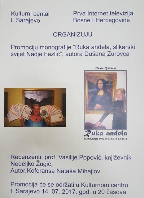 """Promocija knjige """"Ruka anđela, slikarski svijet Nadie Fazlić"""""""
