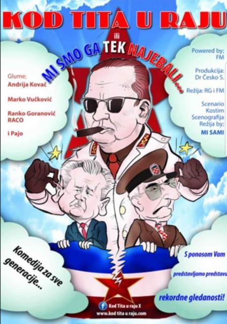 """Kulturni centar predstava """"Kod Tita u raju"""" 21. oktobar"""