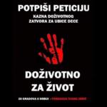 Peticija za uvođenje kazne doživotnog zatvora