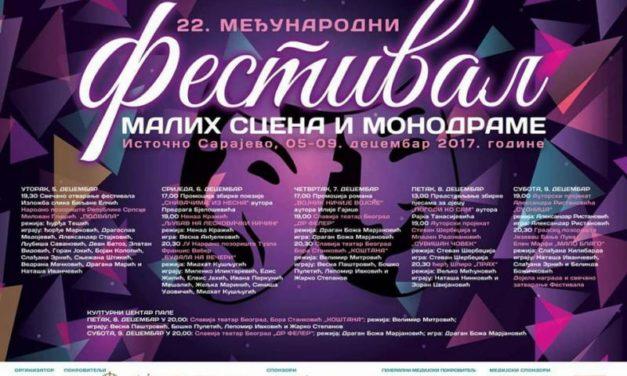 Počinje 22. Međunarodni festival malih scena i monodrame