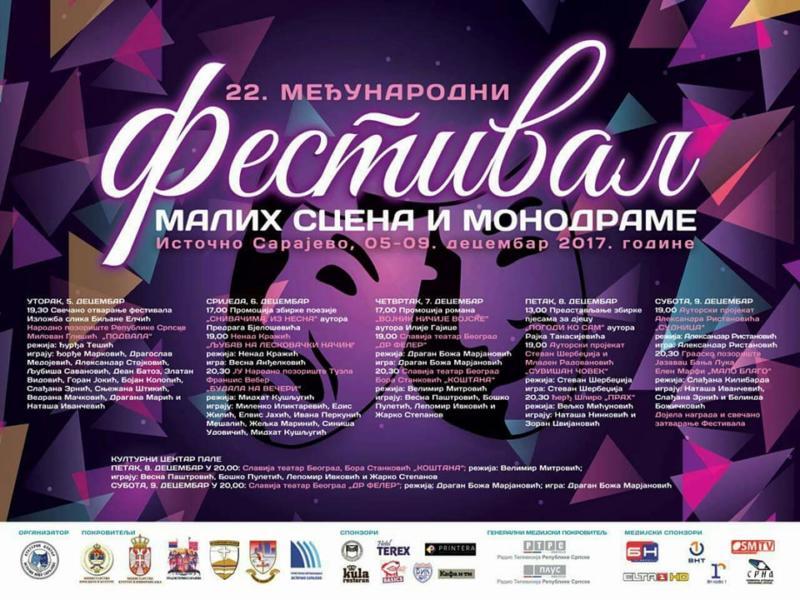 Otvaranje 22. međunarodnog festival malih scena i monodrame Srpske