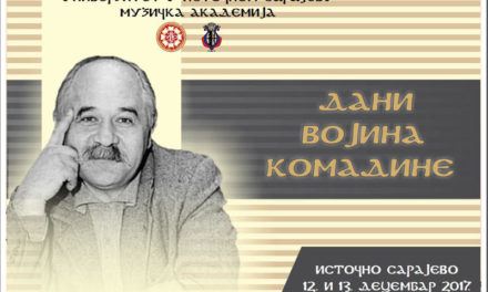 """""""Dani Vojina Komadine"""" 12. i 13. decembra na Muzičkoj akademiji UIS-a"""