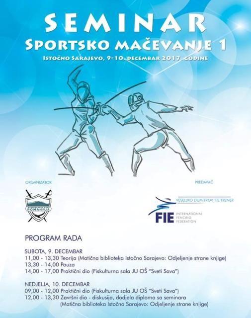 Pohađajte seminar – Sportsko Mačevanje