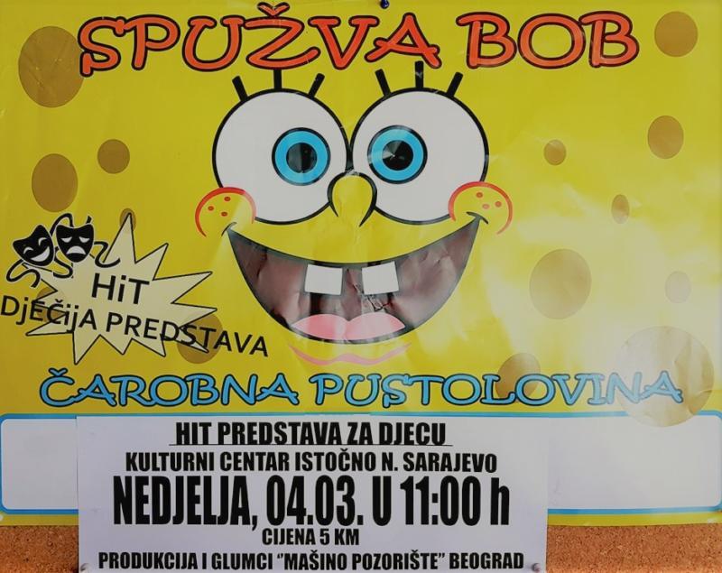 "Predstava ""Spužva bob: Čarobna pustolovina"""