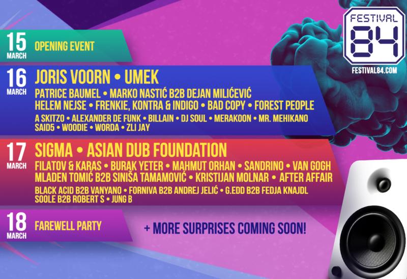 Premijerno izdanje Festivala 84 u organizaciji EXIT