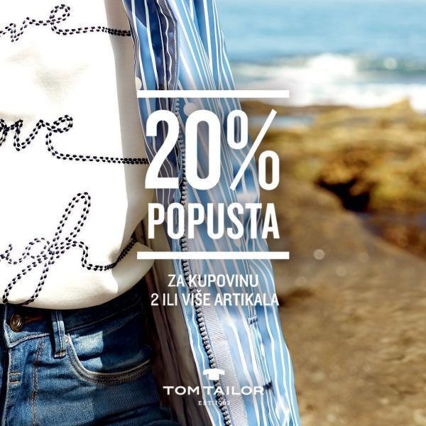 Tom Tailor AKCIJA 2=20 %