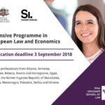 Otvoren poziv za intenzivni program evropskog prava i ekonomije za evropsku politiku i zemlje Zapadnog Balkana