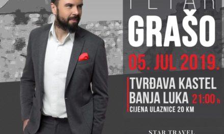 Muzički spektakl Petra Graše 5. jula na Tvrđavi Kastel