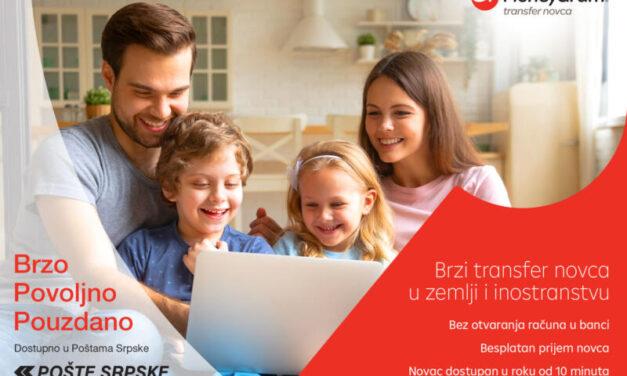 MoneyGram ugovorio partnerstvo s Poštama Republike Srpske